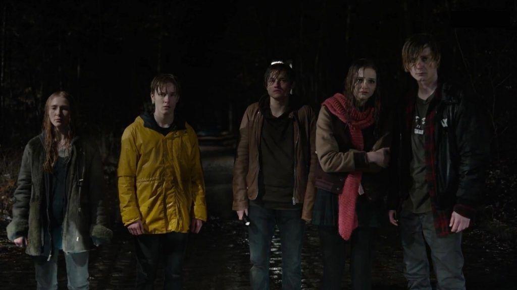 dark frightened kids