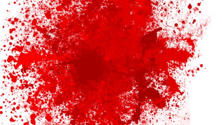 red blood splash on white background rl7pad4m F0000