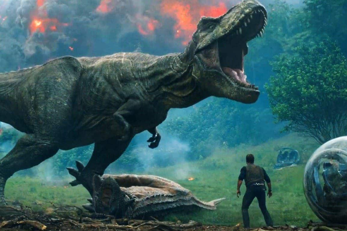 Jurassic World 2 Trailer T Rex Volcano