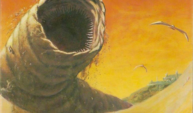 Dune Book Cover art worm
