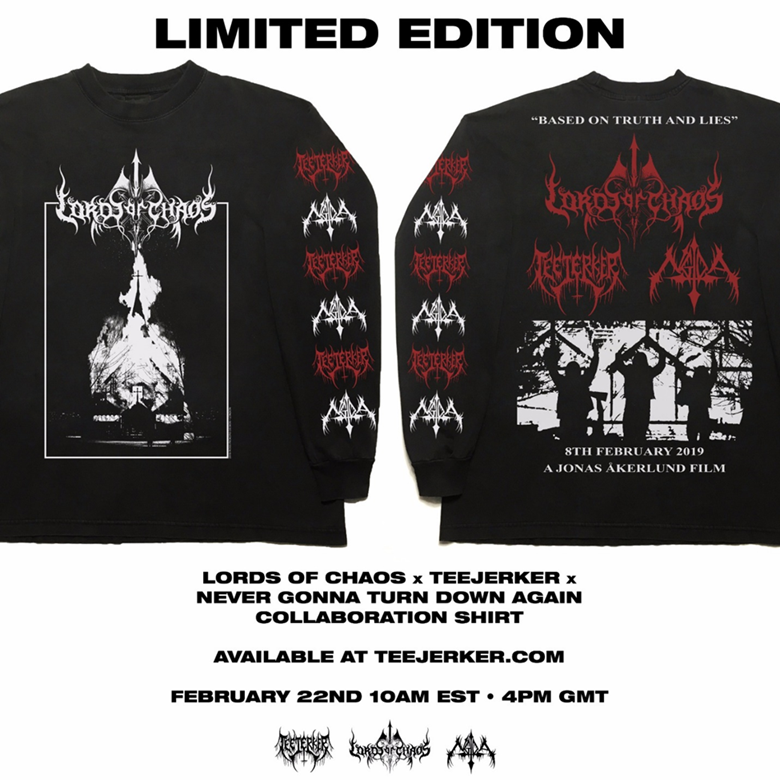 lords of chaos t-shirt
