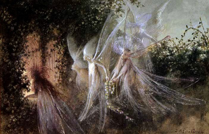 Fairies Looking Through A Gothic Arch John Anster Fitzgerald