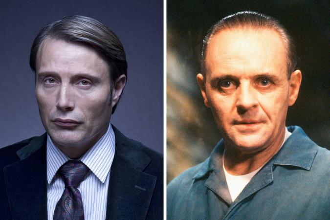 Hannibal Lecter Anthony Hopkins Mads Mikkelsen