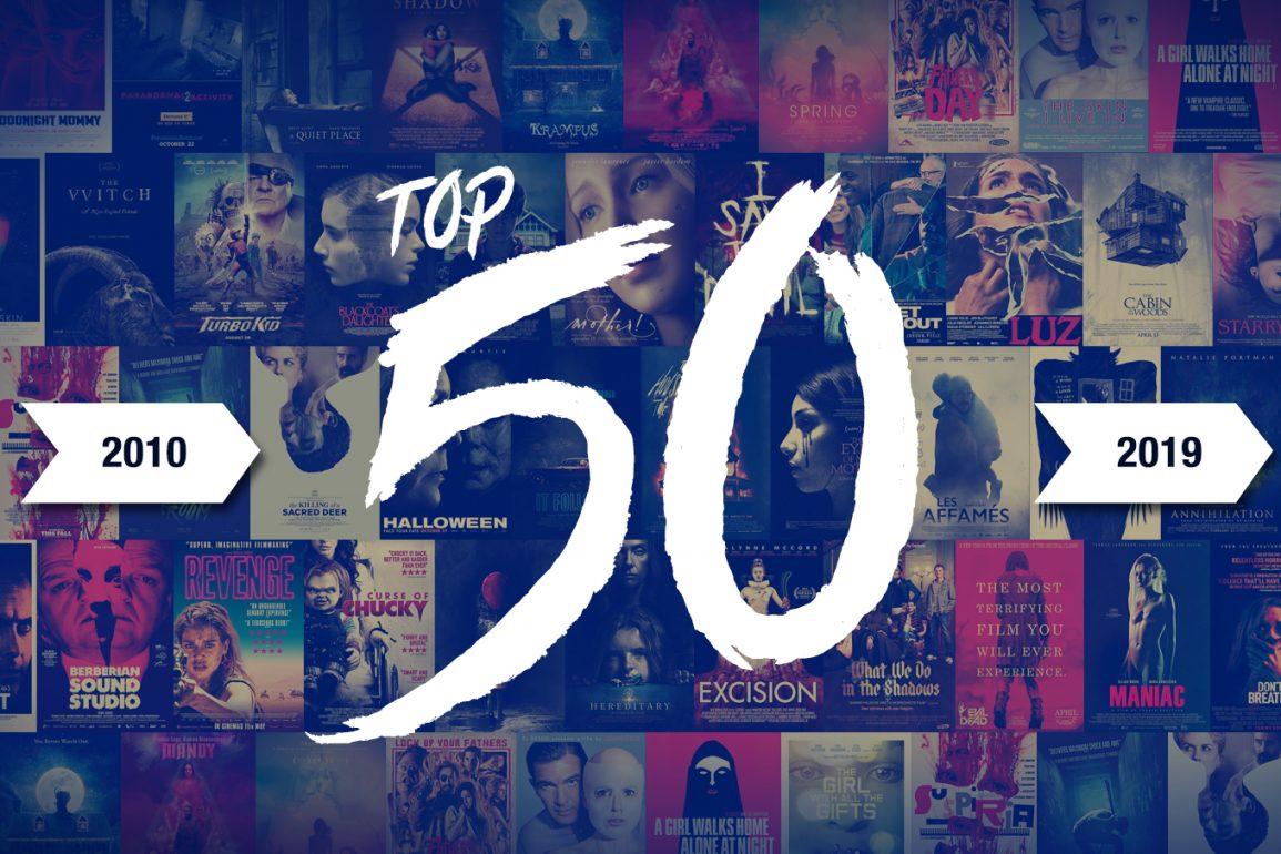 top 50 horreur decennie