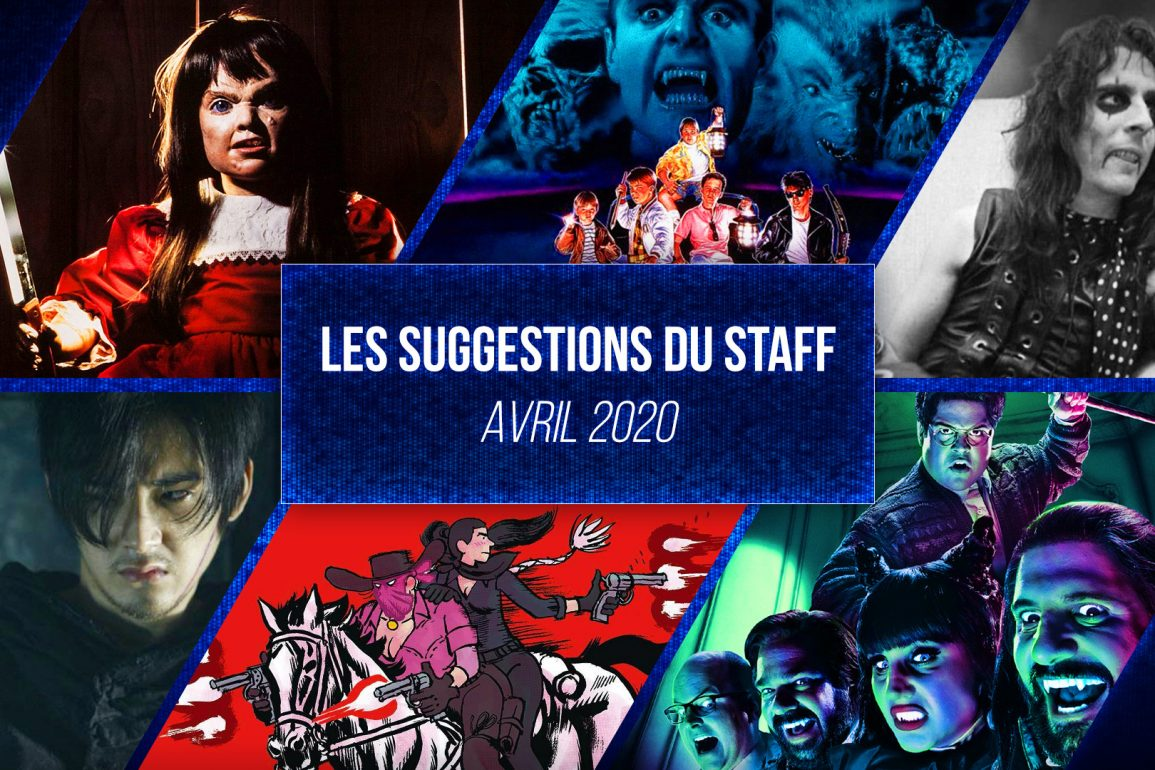 suggestions du staff avril 2020