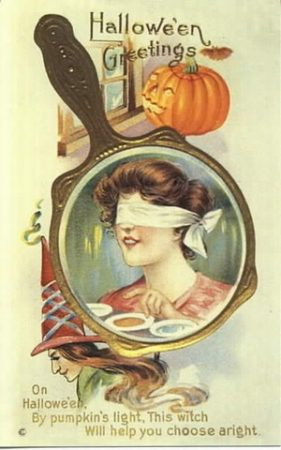 Carte postale d'Halloween trois bols