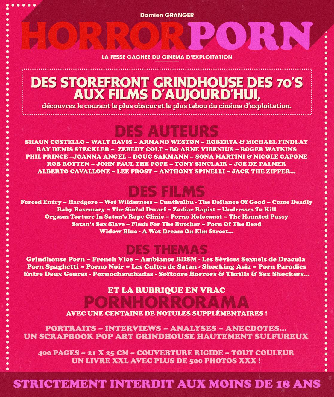 Horror Porn La fesse cachée du cinéma d'exploitation livre